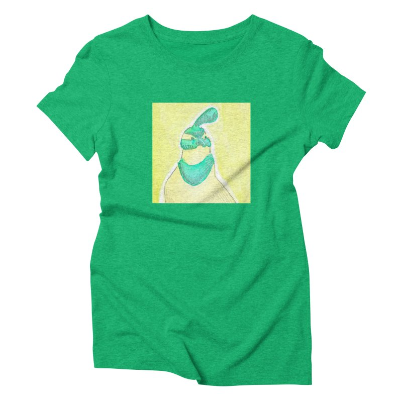 Quail in Blue, Green, Yellow Women's Triblend T-Shirt by The Wilderness Store