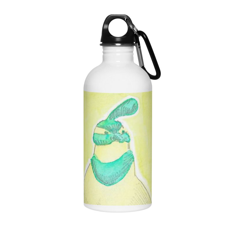 Quail in Blue, Green, Yellow Accessories Water Bottle by The Wilderness Store