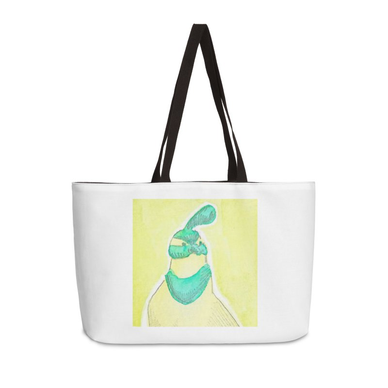 Quail in Blue, Green, Yellow Accessories Weekender Bag Bag by The Wilderness Store