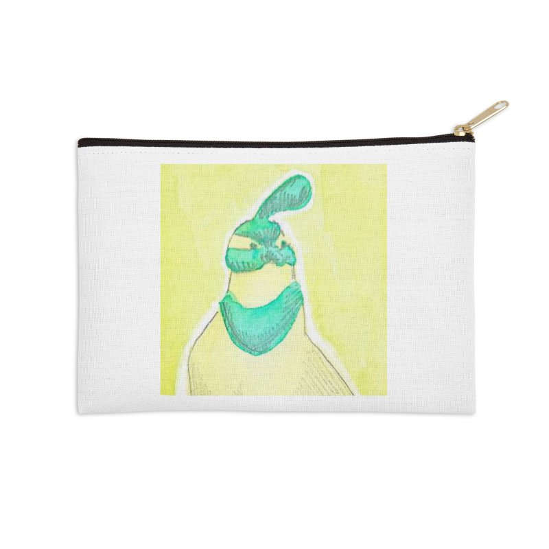 Quail in Blue, Green, Yellow Accessories Zip Pouch by The Wilderness Store