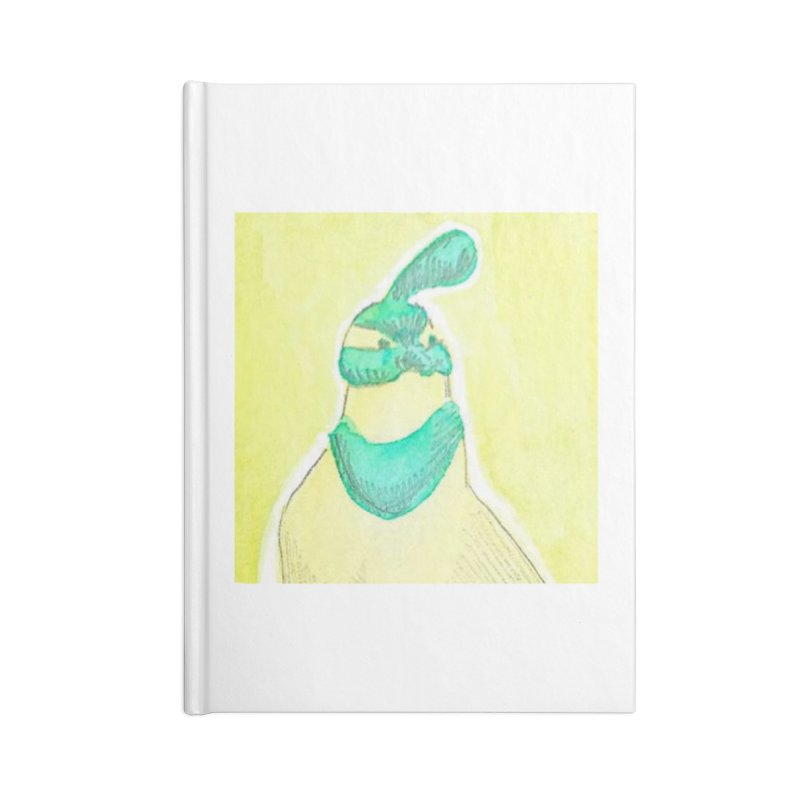 Quail in Blue, Green, Yellow Accessories Lined Journal Notebook by The Wilderness Store
