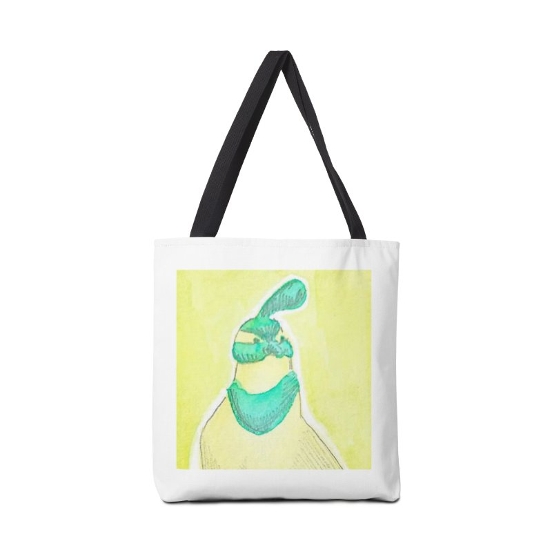 Quail in Blue, Green, Yellow Accessories Tote Bag Bag by The Wilderness Store