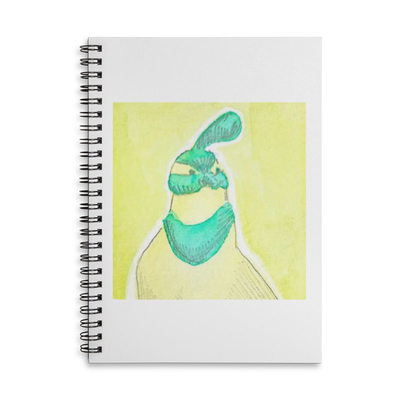 Quail in Blue, Green, Yellow Accessories Lined Spiral Notebook by The Wilderness Store