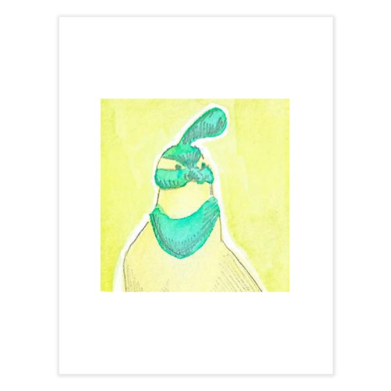 Quail in Blue, Green, Yellow Home Fine Art Print by The Wilderness Store