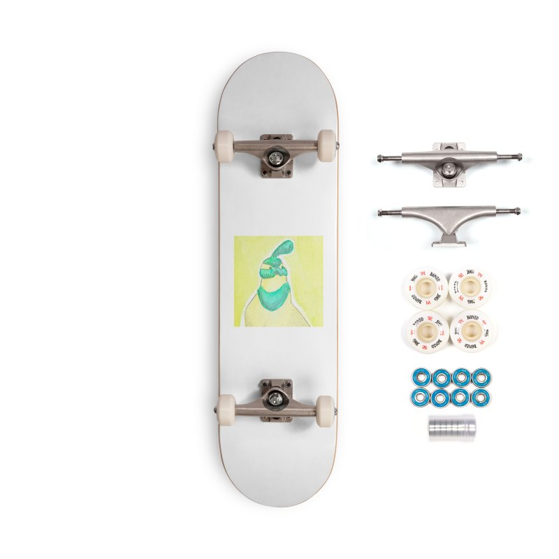 Quail in Blue, Green, Yellow Accessories Complete - Premium Skateboard by The Wilderness Store