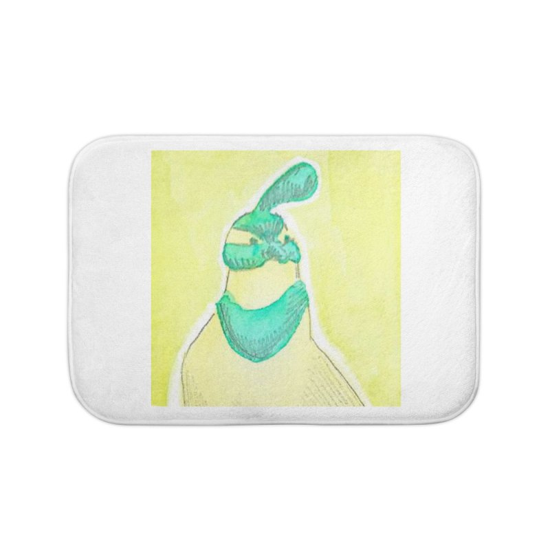 Quail in Blue, Green, Yellow Home Bath Mat by The Wilderness Store