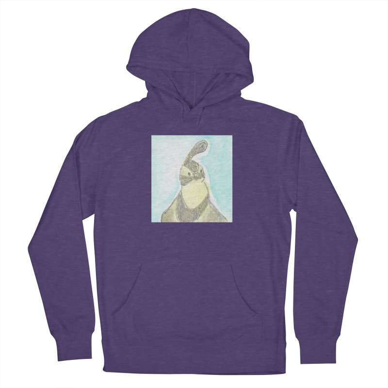 Gambel's Quail in Blue, Yellow Women's French Terry Pullover Hoody by The Wilderness Store