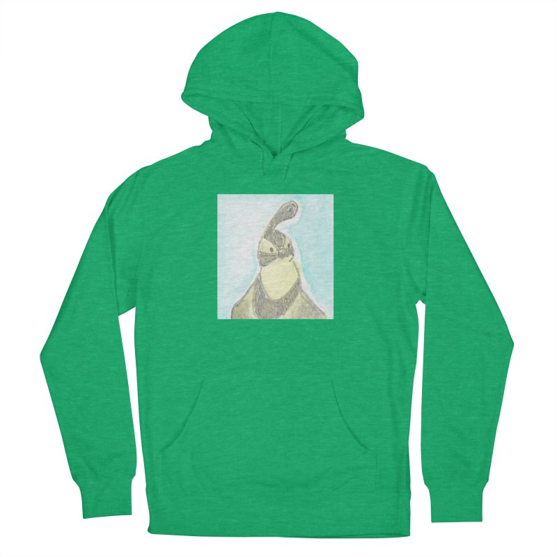 Gambel's Quail in Blue, Yellow Men's French Terry Pullover Hoody by The Wilderness Store
