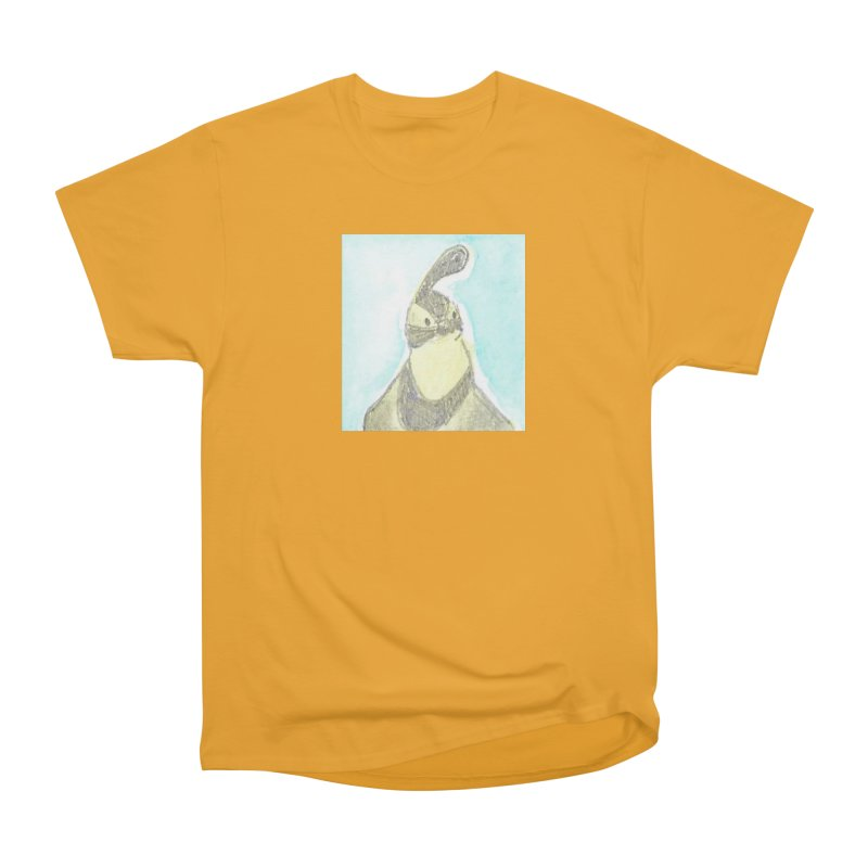 Gambel's Quail in Blue, Yellow Men's Heavyweight T-Shirt by The Wilderness Store