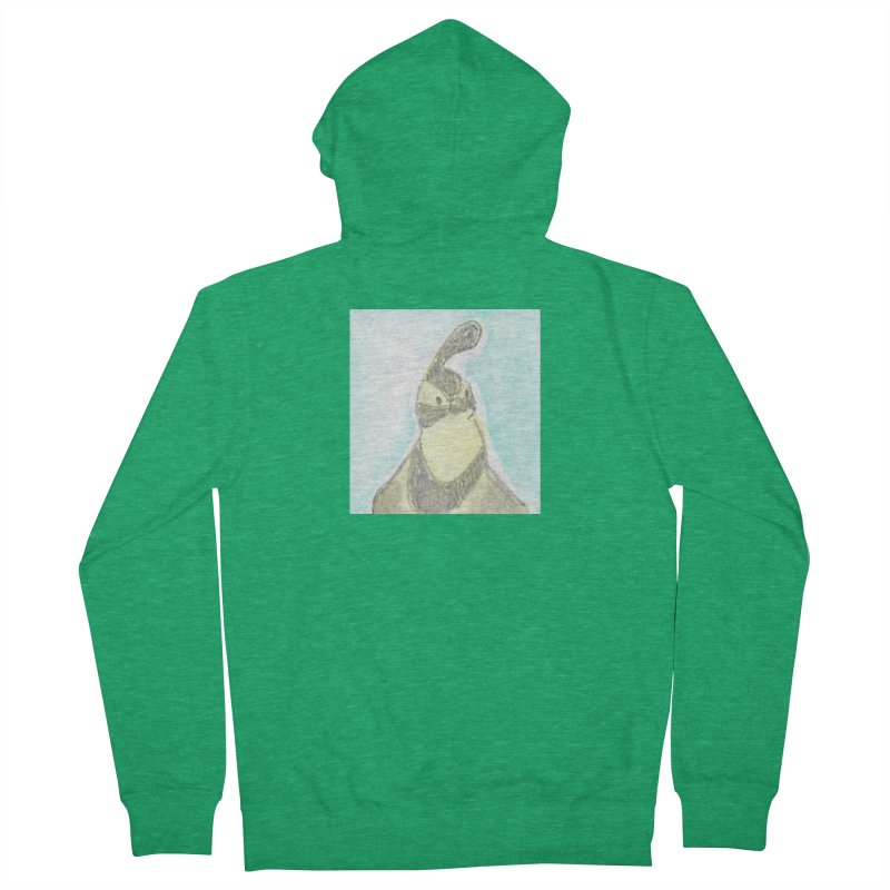 Gambel's Quail in Blue, Yellow Men's French Terry Zip-Up Hoody by The Wilderness Store