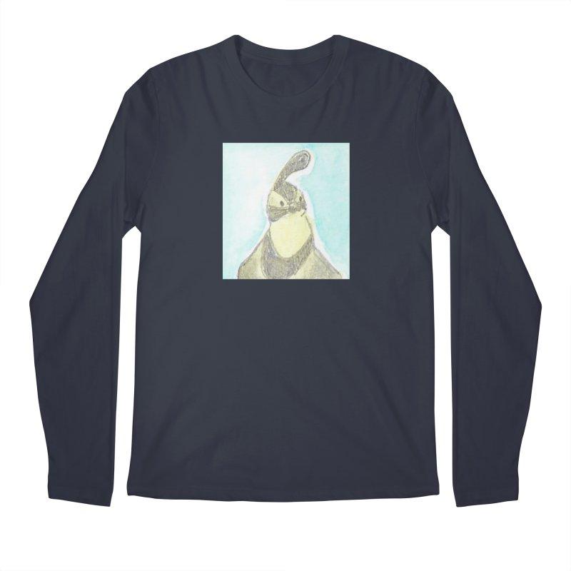 Gambel's Quail in Blue, Yellow Men's Regular Longsleeve T-Shirt by The Wilderness Store