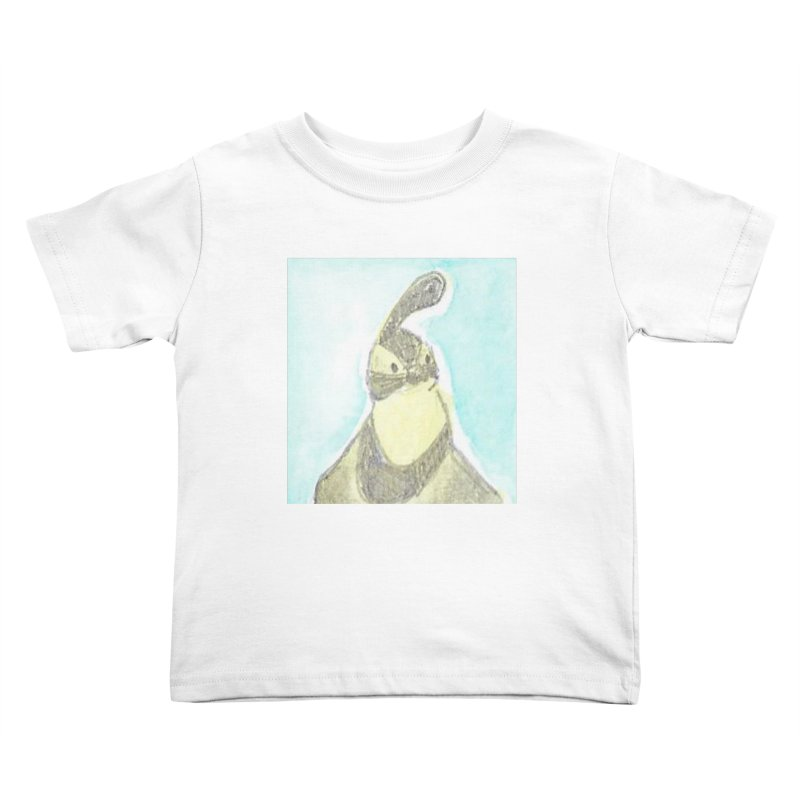 Gambel's Quail in Blue, Yellow Kids Toddler T-Shirt by The Wilderness Store