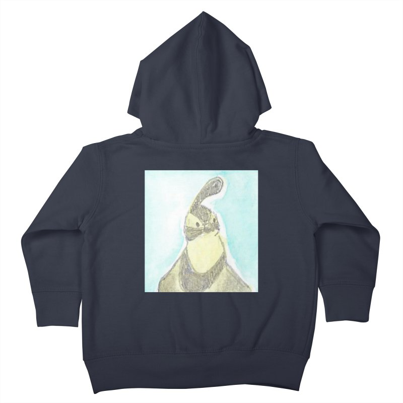 Gambel's Quail in Blue, Yellow Kids Toddler Zip-Up Hoody by The Wilderness Store