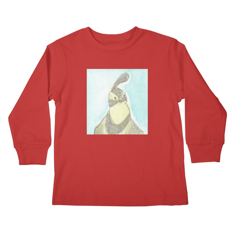 Gambel's Quail in Blue, Yellow Kids Longsleeve T-Shirt by The Wilderness Store