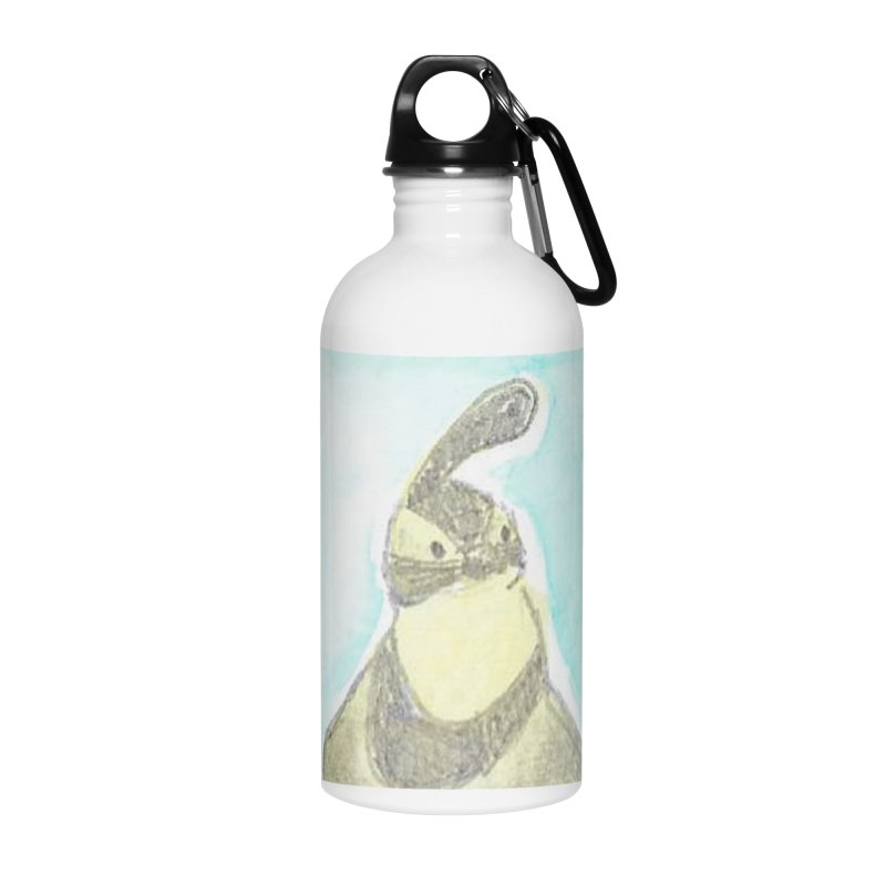 Gambel's Quail in Blue, Yellow Accessories Water Bottle by The Wilderness Store