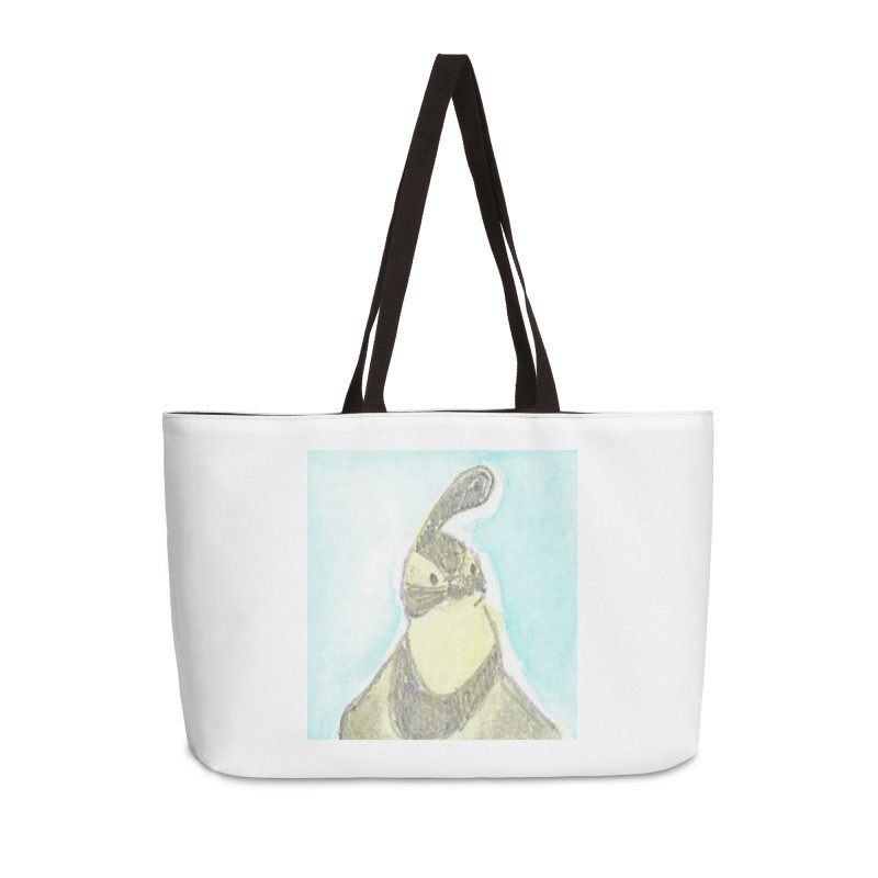 Gambel's Quail in Blue, Yellow Accessories Weekender Bag Bag by The Wilderness Store