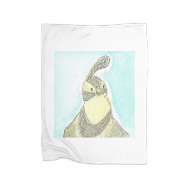 Gambel's Quail in Blue, Yellow Home Fleece Blanket Blanket by The Wilderness Store