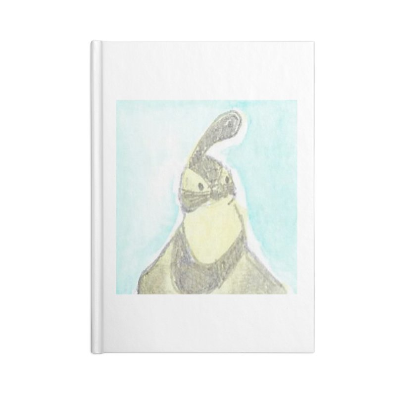 Gambel's Quail in Blue, Yellow Accessories Lined Journal Notebook by The Wilderness Store