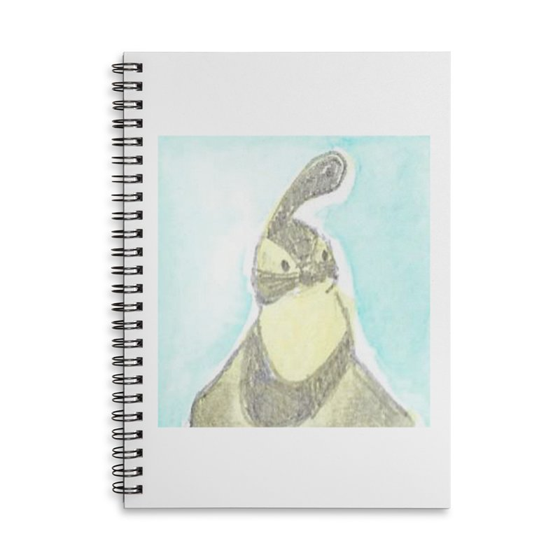 Gambel's Quail in Blue, Yellow Accessories Lined Spiral Notebook by The Wilderness Store