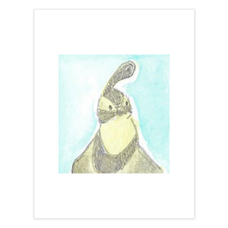 Gambel's Quail in Blue, Yellow Home Fine Art Print by The Wilderness Store