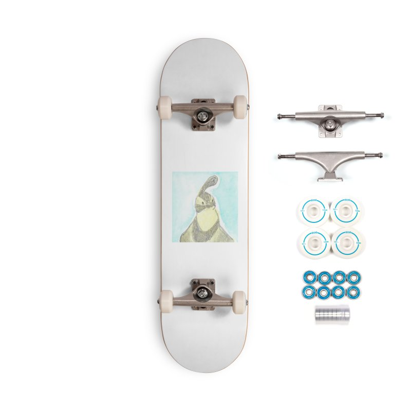 Gambel's Quail in Blue, Yellow Accessories Complete - Basic Skateboard by The Wilderness Store
