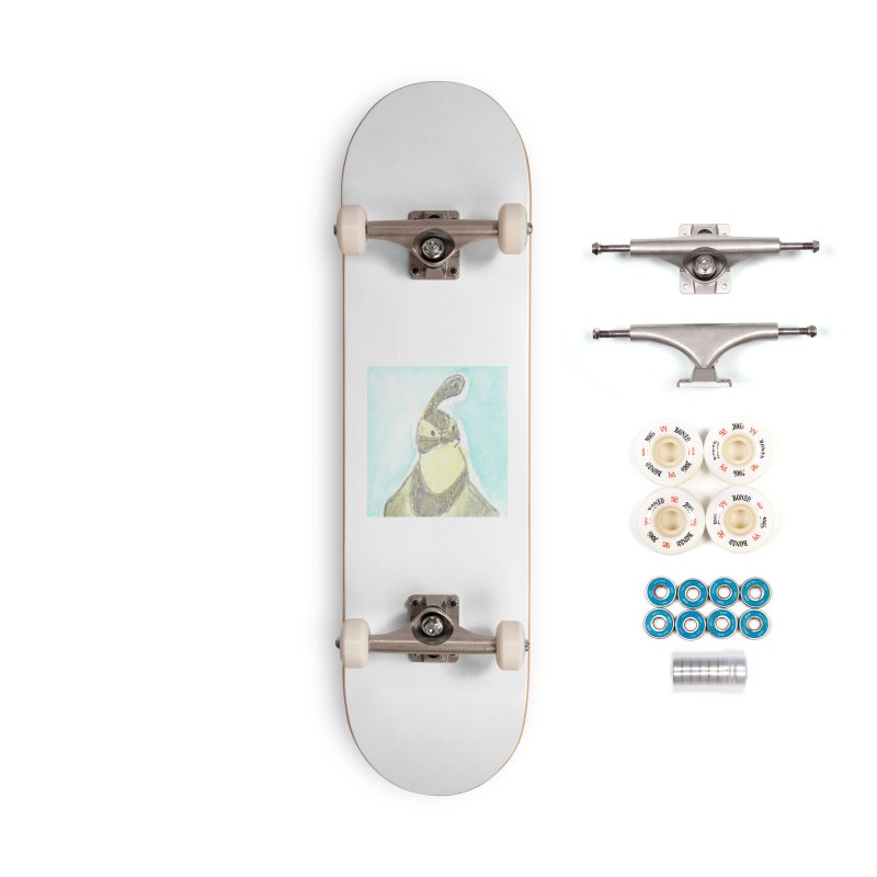 Gambel's Quail in Blue, Yellow Accessories Complete - Premium Skateboard by The Wilderness Store