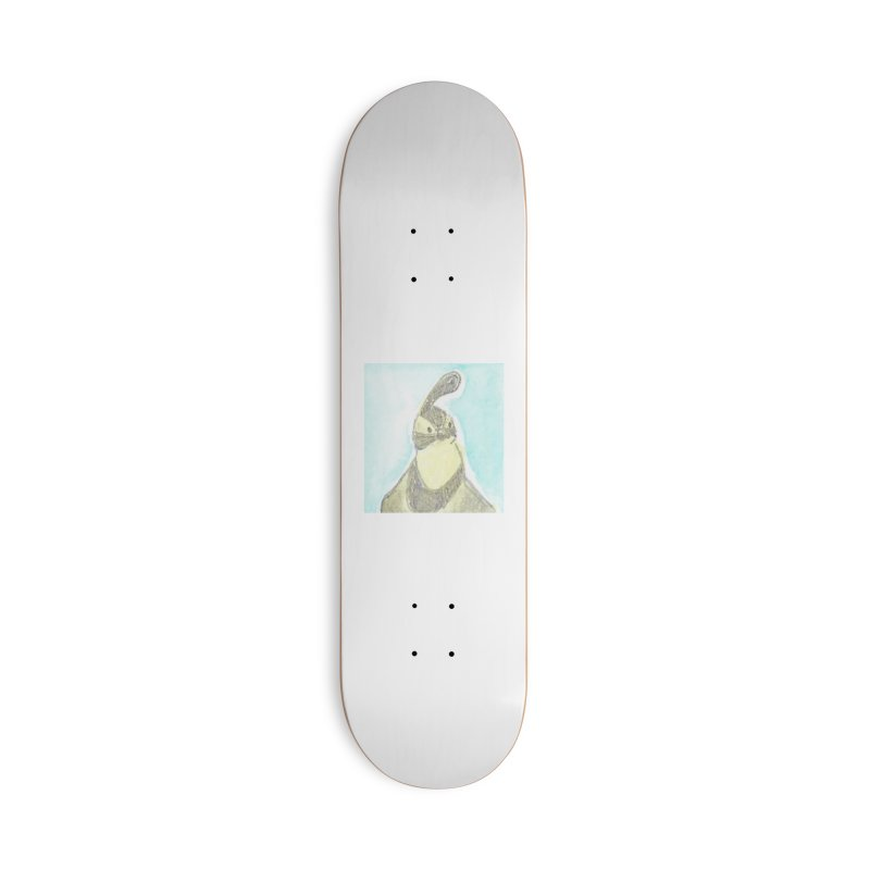 Gambel's Quail in Blue, Yellow Accessories Deck Only Skateboard by The Wilderness Store