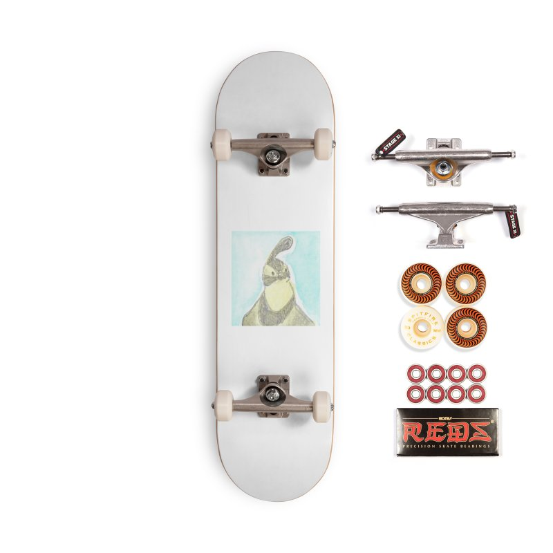 Gambel's Quail in Blue, Yellow Accessories Skateboard by The Wilderness Store