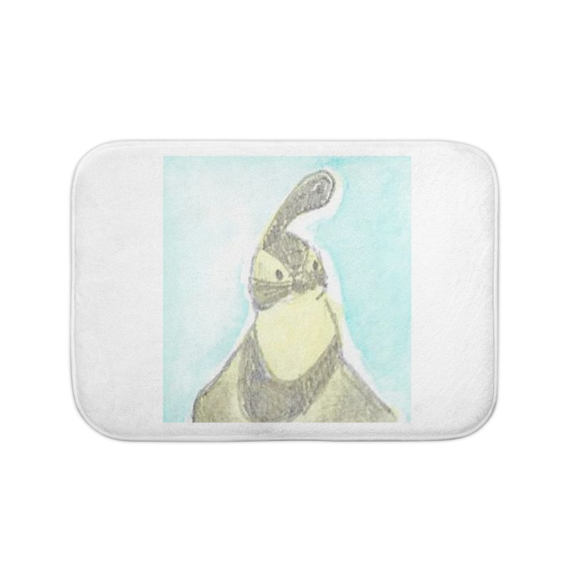 Gambel's Quail in Blue, Yellow Home Bath Mat by The Wilderness Store
