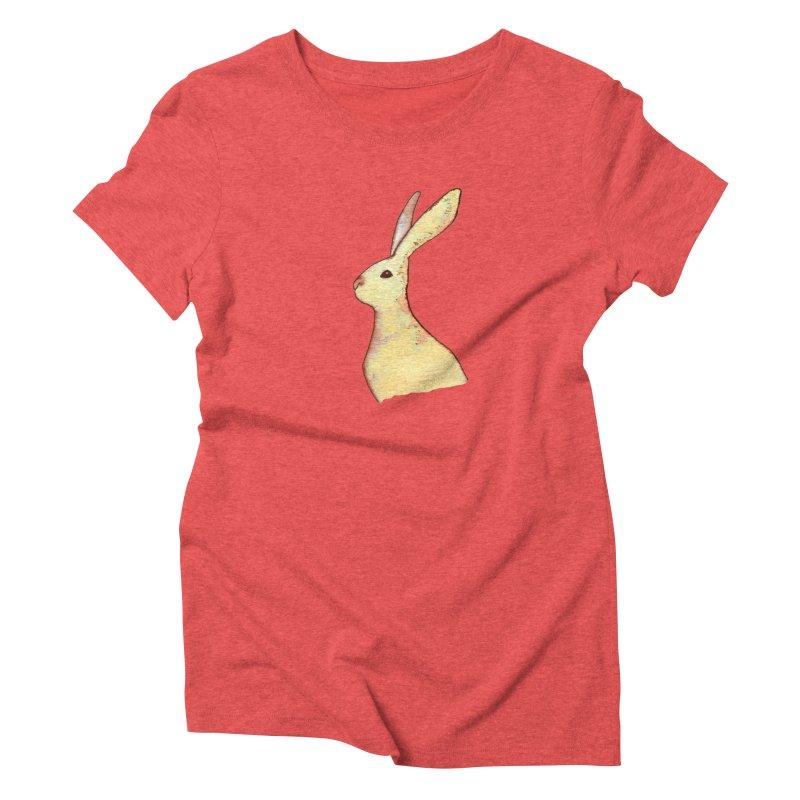 Jackrabbit in Orange Summer Sunset Women's Triblend T-Shirt by The Wilderness Store