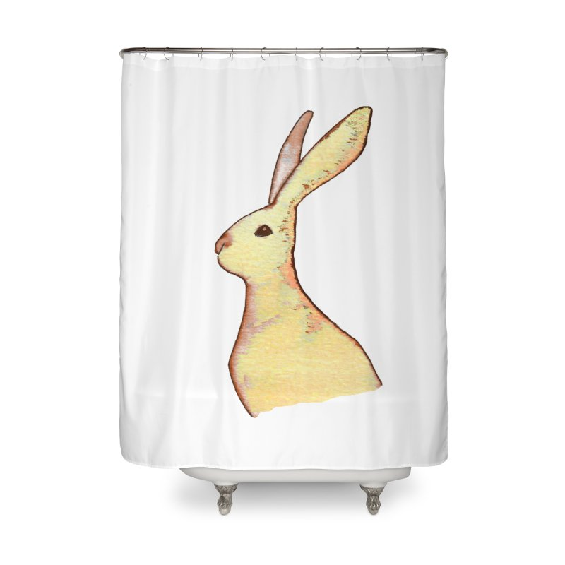 Jackrabbit in Orange Summer Sunset Home Shower Curtain by The Wilderness Store
