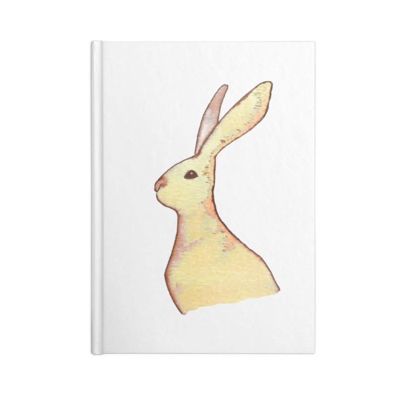 Jackrabbit in Orange Summer Sunset Accessories Lined Journal Notebook by The Wilderness Store