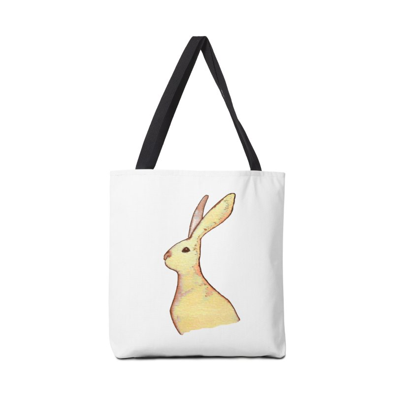 Jackrabbit in Orange Summer Sunset Accessories Tote Bag Bag by The Wilderness Store