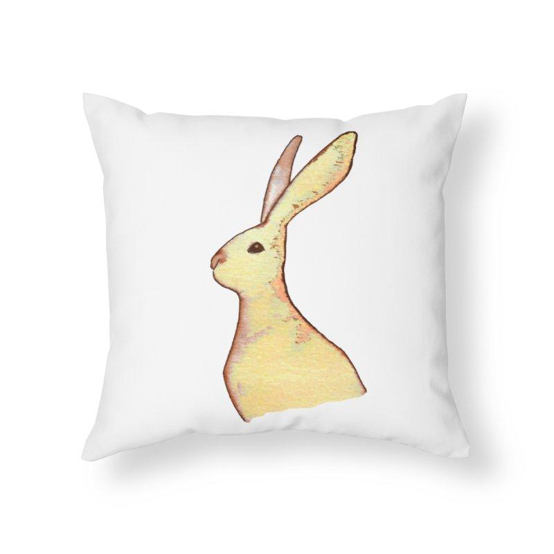 Jackrabbit in Orange Summer Sunset Home Throw Pillow by The Wilderness Store