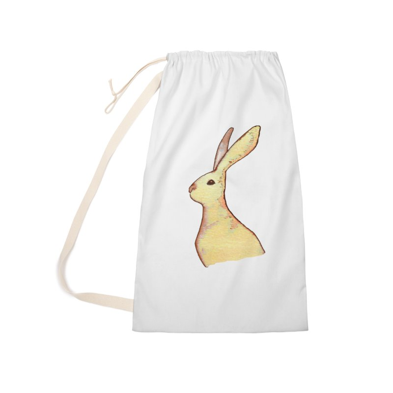 Jackrabbit in Orange Summer Sunset Accessories Laundry Bag Bag by The Wilderness Store