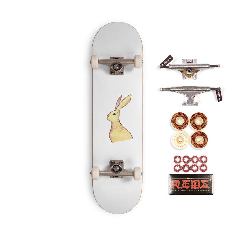 Jackrabbit in Orange Summer Sunset Accessories Skateboard by The Wilderness Store