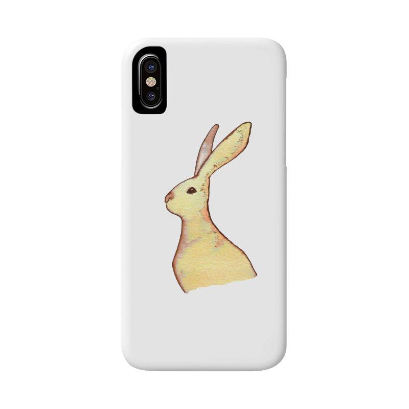 Jackrabbit in Orange Summer Sunset Accessories Phone Case by The Wilderness Store