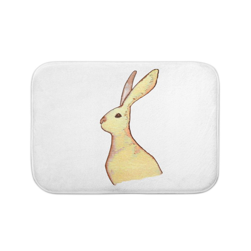 Jackrabbit in Orange Summer Sunset Home Bath Mat by The Wilderness Store