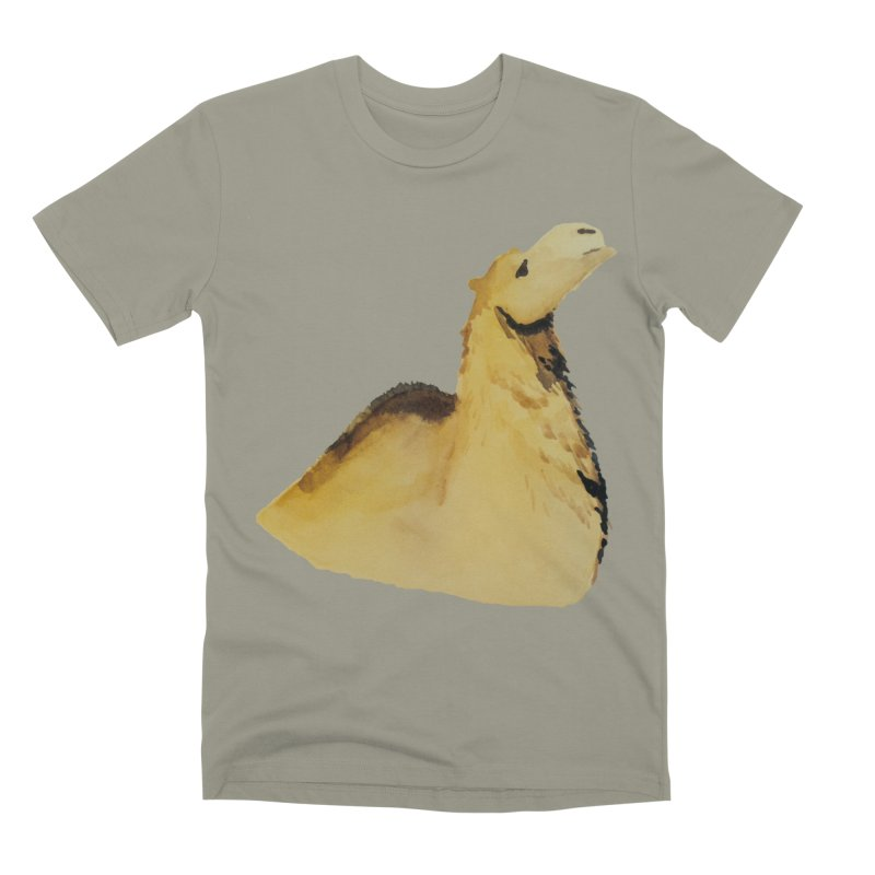 Watercolor Camel Portrait Men's Premium T-Shirt by The Wilderness Store