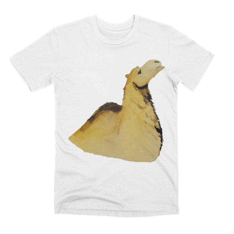 Watercolor Camel Portrait Men's T-Shirt by The Wilderness Store