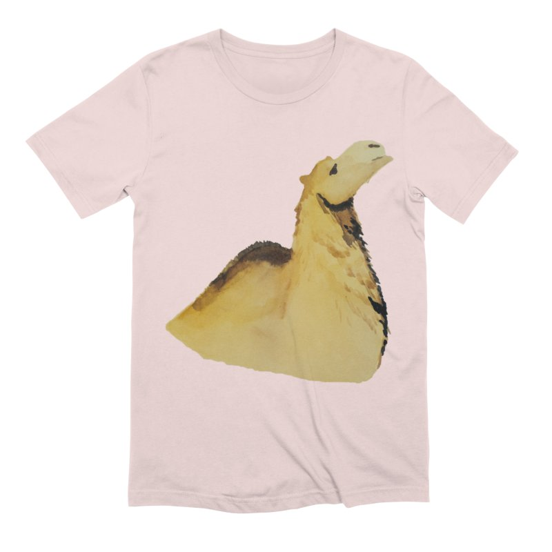 Watercolor Camel Portrait Men's Extra Soft T-Shirt by The Wilderness Store