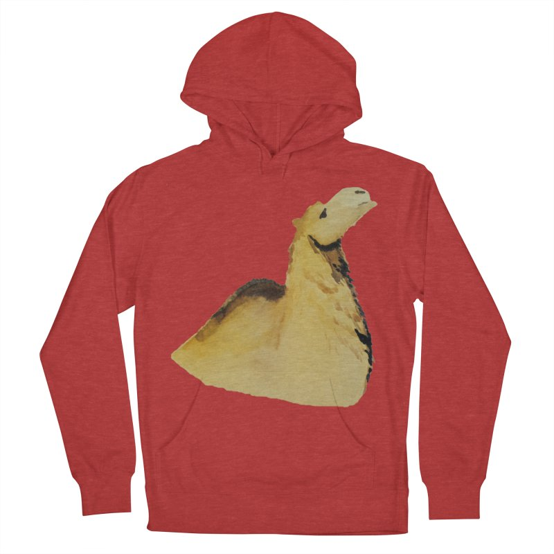 Watercolor Camel Portrait Men's French Terry Pullover Hoody by The Wilderness Store
