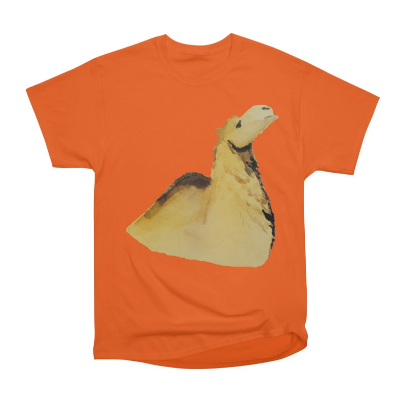 Watercolor Camel Portrait Men's Heavyweight T-Shirt by The Wilderness Store