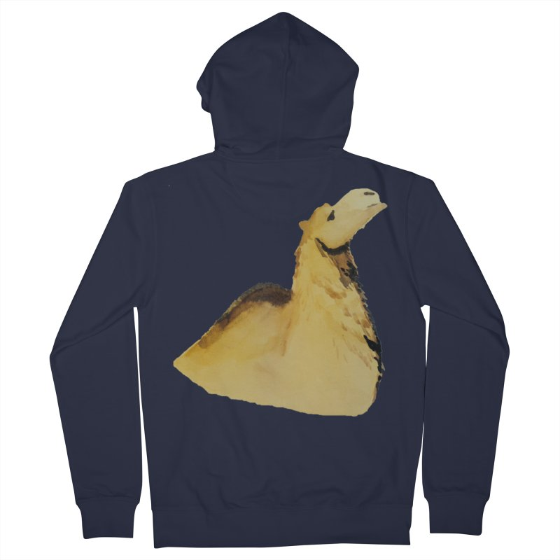 Watercolor Camel Portrait Women's French Terry Zip-Up Hoody by The Wilderness Store