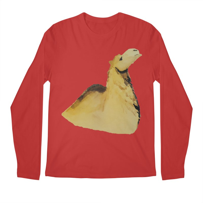 Watercolor Camel Portrait Men's Regular Longsleeve T-Shirt by The Wilderness Store