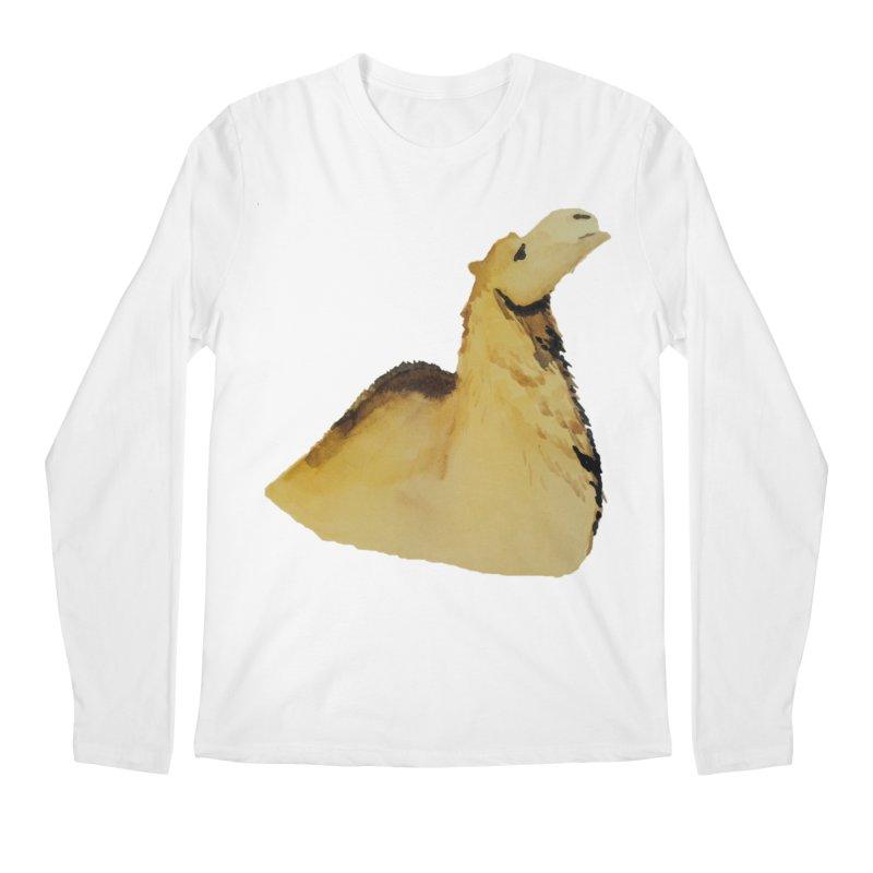 Watercolor Camel Portrait Men's Regular Longsleeve T-Shirt by The Wilderness Store