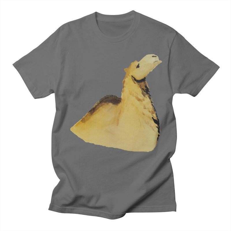 Watercolor Camel Portrait Men's T-Shirt by The Wilderness Store