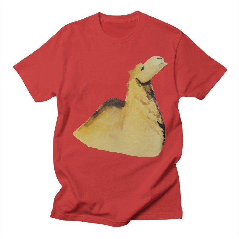 Watercolor Camel Portrait Men's Regular T-Shirt by The Wilderness Store
