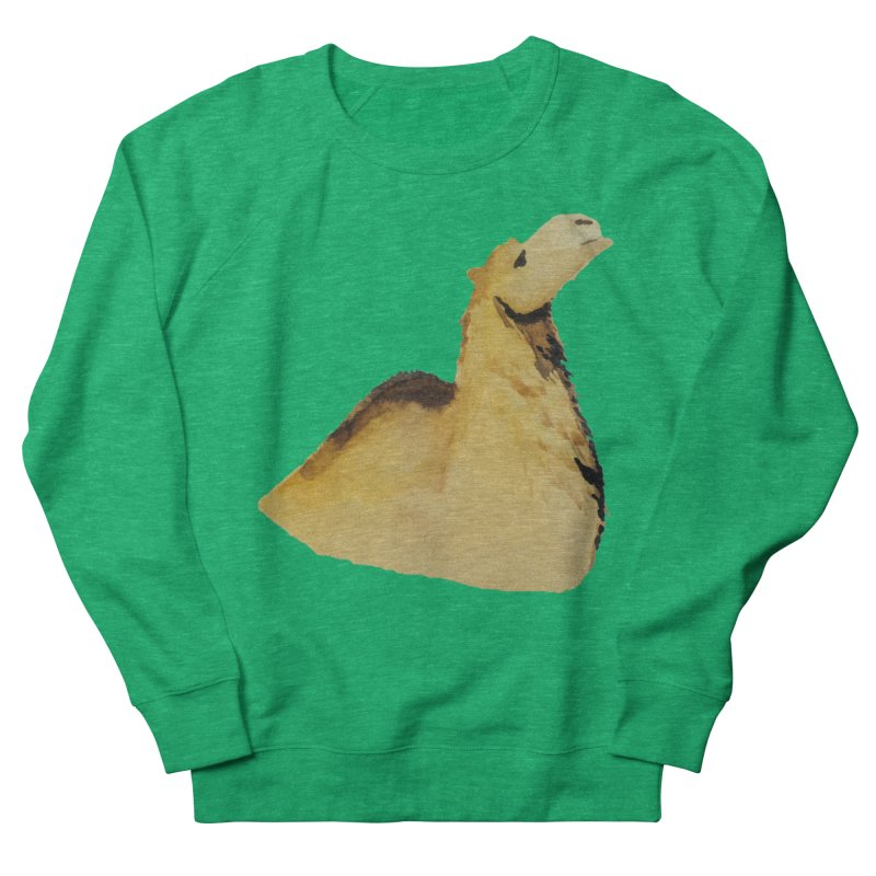 Watercolor Camel Portrait Women's French Terry Sweatshirt by The Wilderness Store
