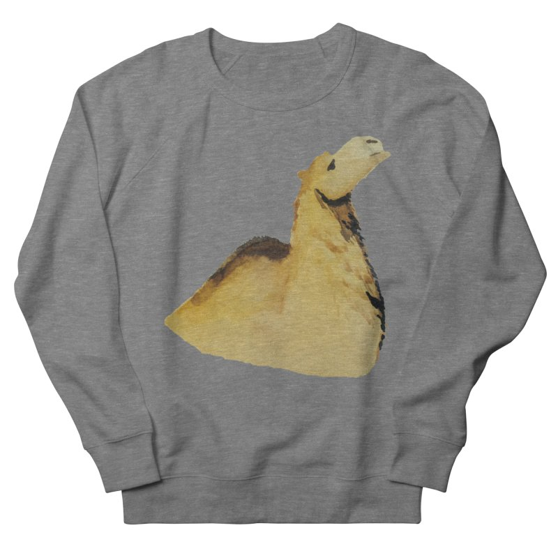 Watercolor Camel Portrait Men's French Terry Sweatshirt by The Wilderness Store